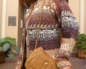 SALE:  Vintage- Leather Cross Body Saddle Bag