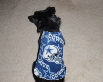 Dallas Cowboys Fleece Dog Coat