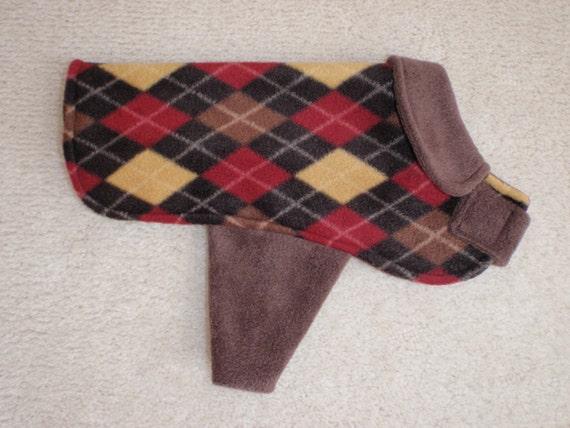 Dapper Dan  Fleece Dog Coat