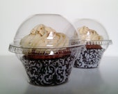 20 Crystal Clear Cupcake Favor Cups / Boxes / Holders / Containers