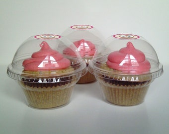 24 Clear Cupcake Favor Boxes - Wedding Favor