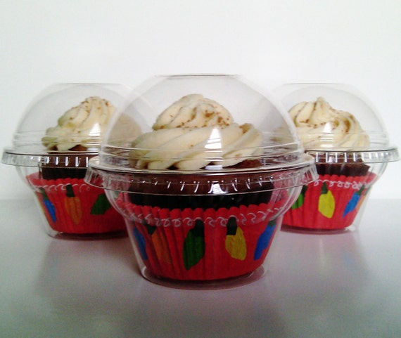 60 Clear Cupcake Favor Cups / Boxes / Holder / Container - Wedding / Party