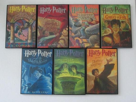 Harry Potter Book Set Original Covers ~ Complete set of harry potter book cover by allybooscreations
