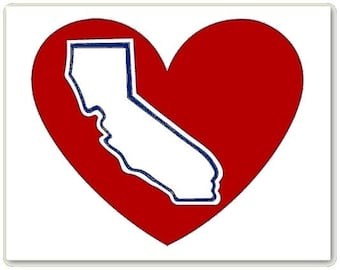 Halo Power California Heart Decal