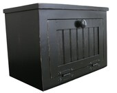 Small Country Farmhouse Wooden Bread Box / Counter Top Cabinet - Available with a Distressed Finish