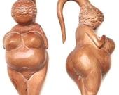 Venus of Willendorf Fertility  Goddess 4ga (5mm),  2ga (6mm), 0ga (8mm)