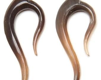 Carved Horn Earring  12ga (1mm) , 10ga (2mm) ON SALE