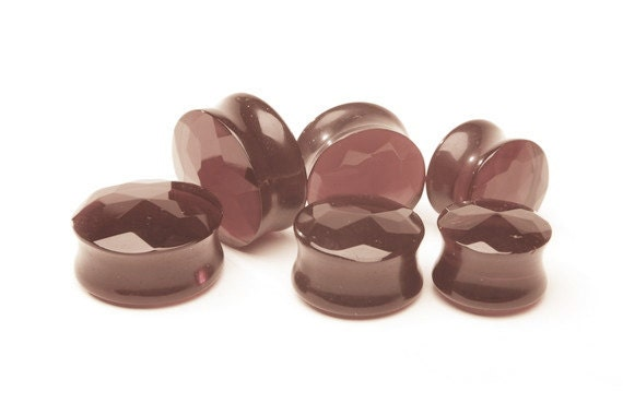 """1/2"""" (13mm), 5/8"""" (16mm) Light Purple Faceted Glass"""