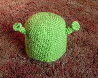 Shrek Crocheted Beanie Hat