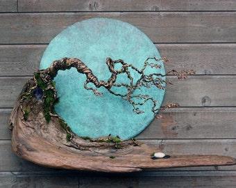 Blue Moon in October Wall Sculpture