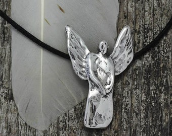 Angel Pendant in sterling silver - lost wax