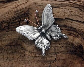 Butterfly Brooch in silver pewter