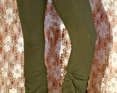SALE   Steam punk green  organic cotton pants bloomers.Before 87.Now 45 dollar
