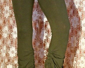 SALE   Steam punk green  organic cotton pants bloomers.Before 87.Now 35 dollar