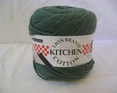 Destash Lion Brand Yarn- Lion Cotton- Sage