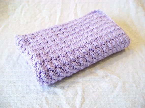 Purple Crochet Baby Blanket, Girls baby blanket, new baby, new mom, baby shower gift, purple blanket, baby afghan, crochet baby blanket
