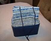 Vintage Handbag Purse with Metal Box Inside and Drawstring Top -Rare-