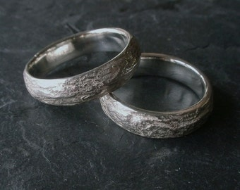 Shale Wedding Bands, natural wedding ring