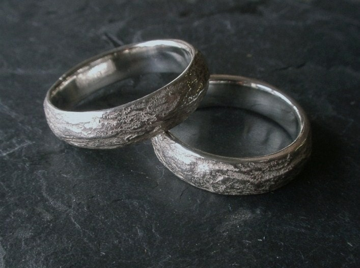 natural wedding ring zoom - Nature Wedding Rings
