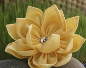 Yellow Lily Brooch or Clip
