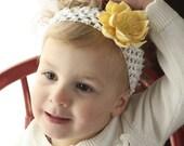 Small Yellow Lily Hairclip and Brooch