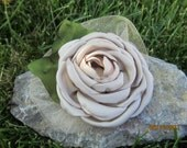 Elegant Champagne Rose Clip and Pin