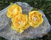Yellow Flower Hairpins