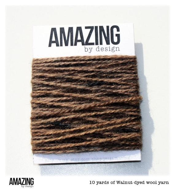 10 yards - hand-dyed walnut wool yarn