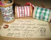 Sew Cute Antique Wooden Spool Ornament
