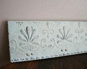 Light Aqua distressed Metal plaque