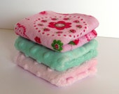 Washcloths Flannel and Dot Fleece Ladybugs