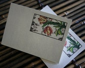 Tulip Note Card, Spiritual Note Card, Handmade Nature Inspired Notecards, Song of Solomon 2:12 - Recycled Cardstock