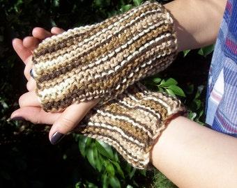 Lovely Browns Tones Fingerless Gloves