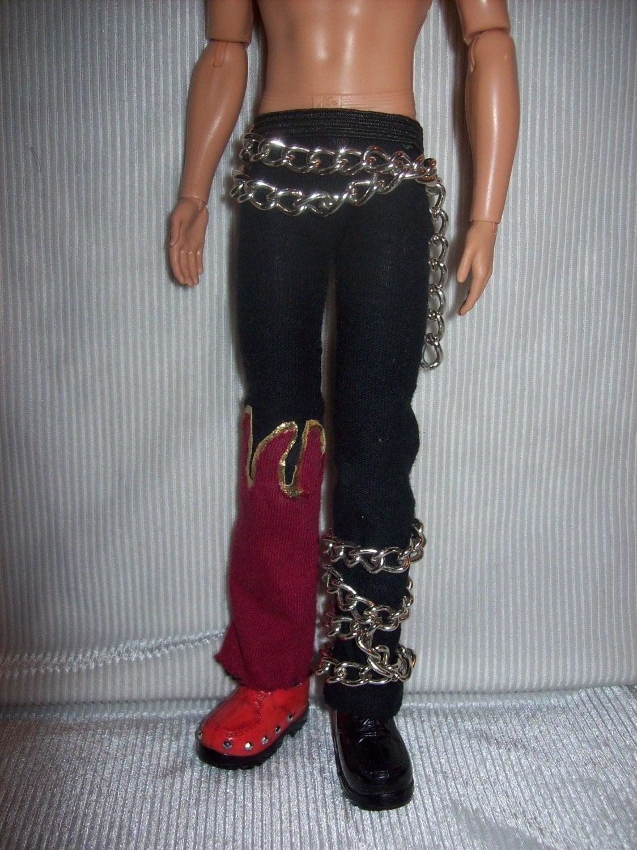 tekken devil jin pants belt  u0026 shoes for ken doll