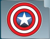 CAPTAIN AMERICA's Shield Icon Logo vinyl decal sticker