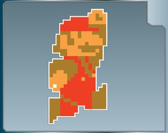 How to Draw an 8 Bit Mario Jumping