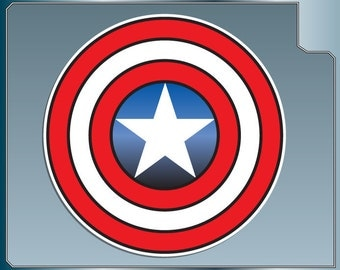 CAPTAIN AMERICA's Shield Icon Logo vinyl decal sticker