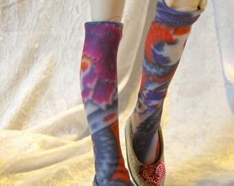 doll clothing MSD dragon tattoo stockings