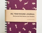 2017 Planner, Weekly Planner, A5 Planner, (Undated) All Year Round Timeless Journal - Bunnies In Purple Land