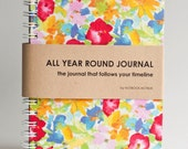 All Year Round Timeless Journal / Planner (Self-filled dates, fabric wrapped) - Summer Splash