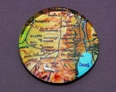 Giant Glass Magnet - Map of Israel