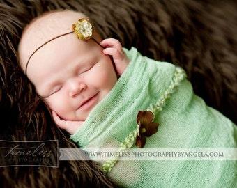 Newborn Cheesecloth, Newborn Layering, Baby Wrap, Photo Prop, Newborn Prop, Mint Green Baby Wrap, Photo Prop, Mint Green Cheesecloth Wrap