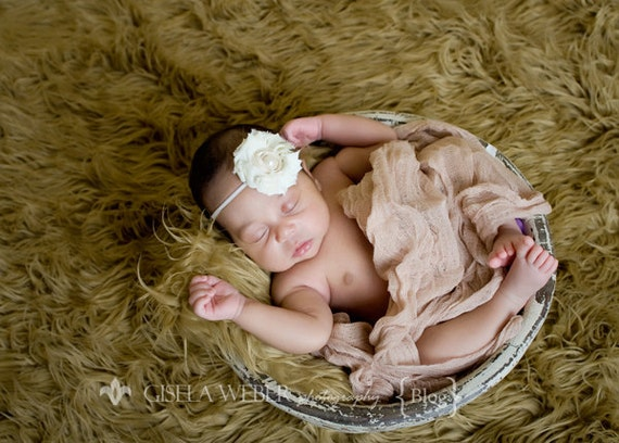 Newborn Cheesecloth, 6 Ft High Grade, Cheesecloth Wrap, Tan Cheesecloth, Beige Baby Wrap, Newborn Photo Prop, Newborn Wrap, Tan Newborn Warp