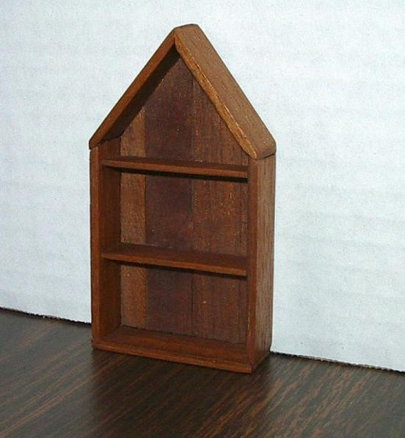 Dollhouse Rustic Wall Shelves 1/12 Scale By CalicoJewels
