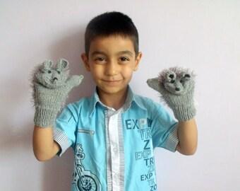 Children's clothing-Cute hedgehog gloves for children-For the Kids-Children Holiday Clothing