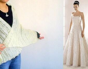 Hairpin Crochet Shawl,Bridal Shawl - Mohair Warm Handmade Triangle Ivory Shawl,wedding,bridesmaid gifts