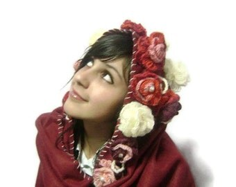 Fashion gifts,Yarn made of roses ,Best Gift for her-fall scarf,mother's day sale