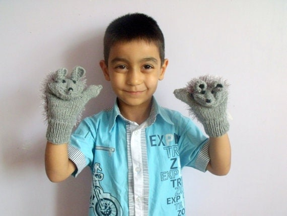 Children's clothing-Cute hedgehog gloves for children-For the Kids-Children Holiday Clothing