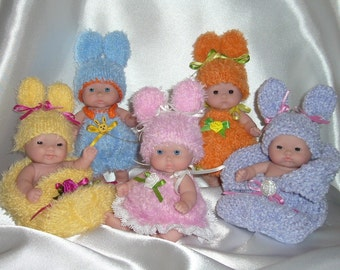 "5""8""10"" Berenguer dolls Easter Babies Bunnies outfit knitting PATTERN PDF N1"