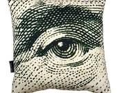 George Washington Eye pillowcase (no insert)
